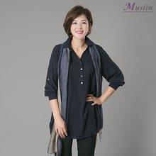 엄마옷 모슬린 셔츠를 닮은 앞단추 블라우스 BL1368
