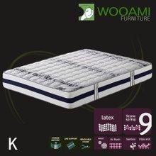 [우아미샵] Cozy VIP Bamboo wool패딩 라텍스탑 9zone독립 매트리스 킹K
