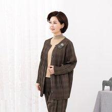 마담4060 엄마옷 유니크체크가디건-ZCA910007-