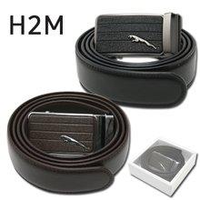 [H2M] 자동조절 가로라인 표범 버클 남성 골프 벨트/골프용품_248365