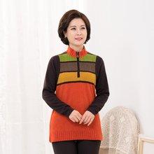 마담4060 엄마옷 배색톡톡지퍼티셔츠-ZTE910110-