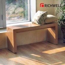 리치웰 천연무늬목 아벨 2인 벤치의자