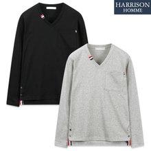 [해리슨] 3033 탐 V넥 긴팔 티셔츠 TOS1207