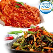 [해뜰] 포기김치 3kg + 열무 얼갈이 김치 2kg