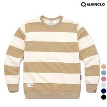 [앨빈클로]MAR-675 스트라이프 맨투맨 티셔츠