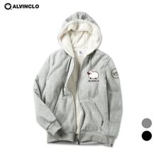 [앨빈클로] SWEET 양털 후드집업 (AZH_556)