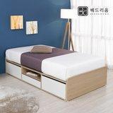 [금성침대베드리움] 니즈(B2500) 3단 서랍 평상형 침대(슈퍼싱글)-독립형