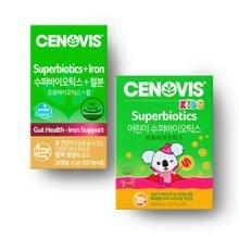 [세노비스] 수퍼바이오틱스+철분30캡슐 & 키즈수퍼바이오틱스 30포