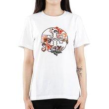 [토리버치] (59932 971) 여성 페이즐리 로고 반팔 티셔츠 19FW