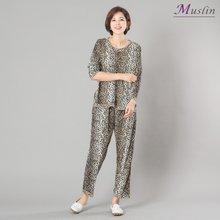 호피나염 상하세트홈웨어 -HS1092-모슬린 엄마옷 미시