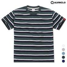 [앨빈클로]AST-3983 레귤러 스트라이프 반팔 티셔츠