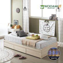 [우아미샵]3way 멀티수납 침대세트(1100슈퍼싱글)-Cozy Vip본넬매트리스