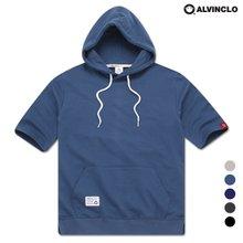 [앨빈클로]AST-3521 베이직 후드 반팔 티셔츠