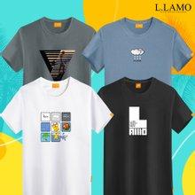 [엘라모] 여름 반팔티 남녀공용 빅사이즈 S~4XL