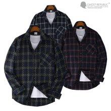 고스트리퍼블릭 오버핏 로얄 체크 포켓 긴팔 셔츠 MSH-554