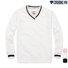 [크루클린] 브이넥 맨투맨 티셔츠 MRL418