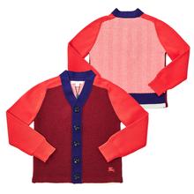 [버버리키즈] 컬러 블록 WINSTONE RED 8002001 A2172 키즈 가디건 (성인착용가능)