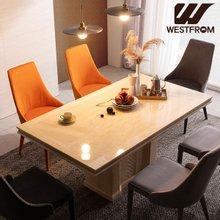 [웨스트프롬] NEW 빈티지 파밀리아) 모자이크 대리석 6인 식탁 (의자제외)