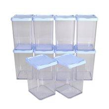 [실리쿡] 냉동실수납용기 리퍼브 높은대형(블루) 10개