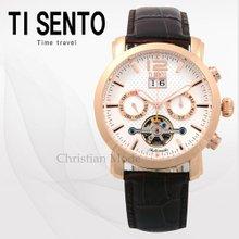 티센토(TISENTO) 남성손목시계(TS50201ROCH/가죽밴드/오토매틱)