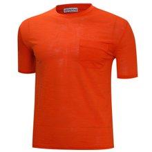 [파파브로]남성 여름 국산 라운드 포켓 반팔 티셔츠 MB-OP-HR-803-오렌지