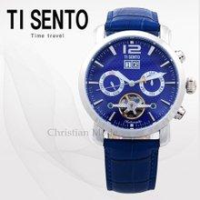 티센토(TISENTO) 남성손목시계(TS50201BUBU/가죽밴드/오토매틱)