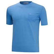 [파파브로]남성 여름 국산 라운드 포켓 반팔 티셔츠 MB-OP-HR-804-스카이