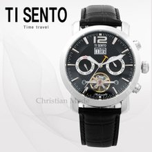 티센토(TISENTO) 남성손목시계(TS50201BSBK/가죽밴드/오토매틱)