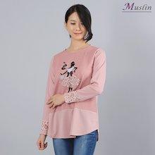 레이스 큐빅 나염티 -TS8022635-모슬린 엄마옷 마담