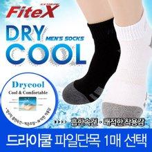 [FiteX]피트엑스 드라이쿨 파일 단목 남성양말/스포츠양말
