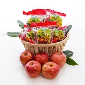 [사과랑] 햇 사과! 껍질째먹는 세척사과 4kg(실중량/16~24내)