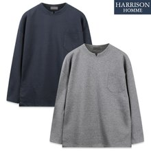[해리슨] 넥 포인트 포켓 긴팔티셔츠 CRS1331