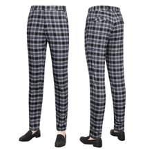 [파파브로]남성 여름 캐주얼 체크 스판 슬랙스 바지 LO-C603-블랙