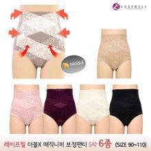 [레이프릴]5차 더블엑스 매직니퍼 보정팬티6종 (90~110)