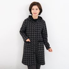 마담4060 엄마옷 네모롱후드코트-ZCO910009-