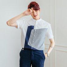 [단군] 블록절개차이나셔츠