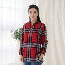 마담4060 엄마옷 체크와이어카라티셔츠-ZTE002069-