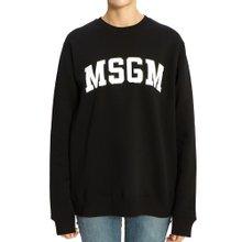 [엠에스지엠] 로고 2742MDM163 195799 99 여자 긴팔 기모 맨투맨 티셔츠