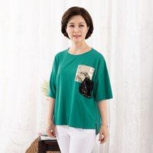 마담4060 엄마옷 눈이부셔티셔츠 QTE907059