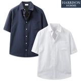 [해리슨] 시원한 베이직 아이템 옥스퍼드 반팔 셔츠 JIM1157