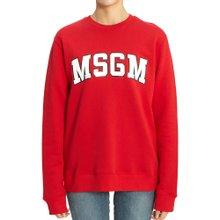 [엠에스지엠] 로고 2742MDM163 195799 18 여자 긴팔 기모 맨투맨 티셔츠