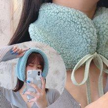 쉬즈 리본 여성 스카프 머플러 겨울