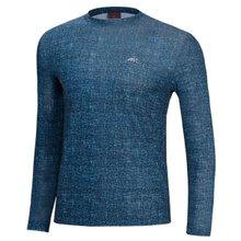 [파파브로]남성 스판 쿨링 라운드 긴팔 티셔츠 DW-M2-NC-블루