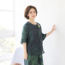 마담4060 엄마옷 절개라인생활한복상의 QKC906029
