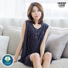 쿨 냉감 여성 민소매상하 젤리뽀도트 택1