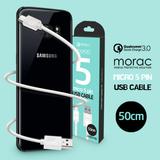 [morac] Q1시리즈 마이크로5핀 50cm 케이블 고속충전 퀄컴퀵차지3.0