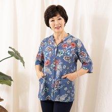 마담4060 엄마옷 오픈차이나꽃셔츠 QBL907090