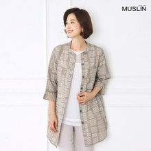 [엄마옷 모슬린] 유니크 단가라 셔츠 자켓 JK905030