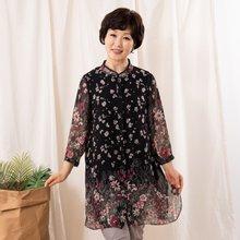 마담4060 엄마옷 흩날리는꽃잎셔츠 QBL907088