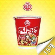 [오뚜기] 진라면 매운맛 미니컵 15입(65g x 15개)